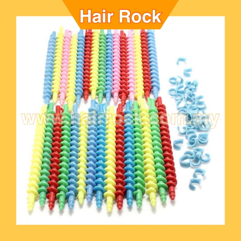 Plastic Hairdressing Spiral Hair Perm Rod