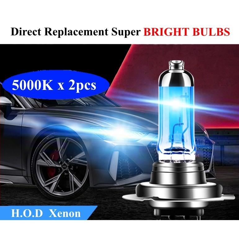 2pcs SUPER BRIGHT 5000K HOD Xenon Light Bulbs 100W H1 H7 H8 H11 9005  9006 HeadLight Replacement Car light Bulbs