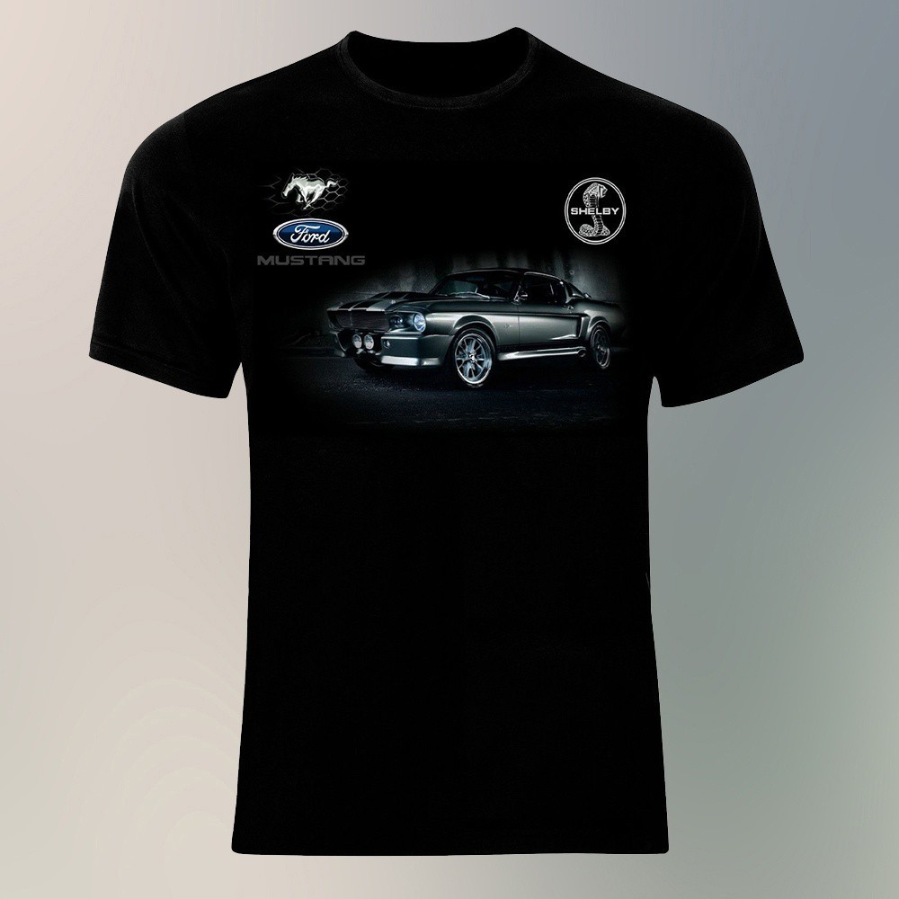 Ford Mustang Shelby Eleanor GT 500 from 1967 Logo Auto Sport Cars Camiseta de Hombre Printed T-Shirt