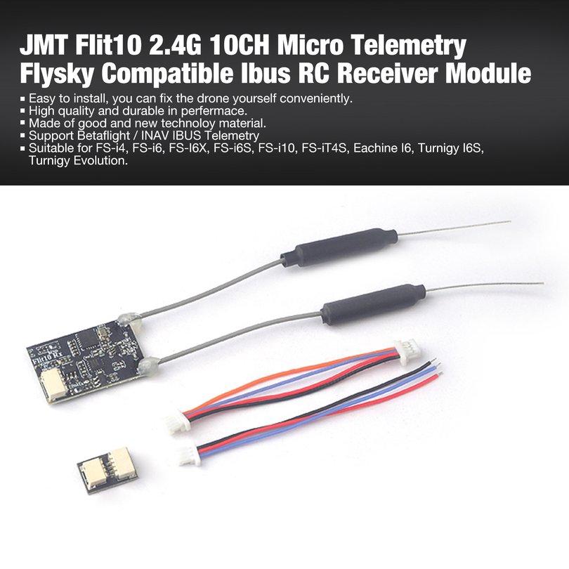 JMT Flit10 2 4G 10CH Micro Telemetry Flysky Compatible Ibus RC Receiver  Module
