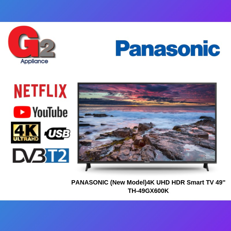 PANASONIC (Replacement new model with Android) 4K UHD HDR Smart TV 49\'\' TH-49GX650K