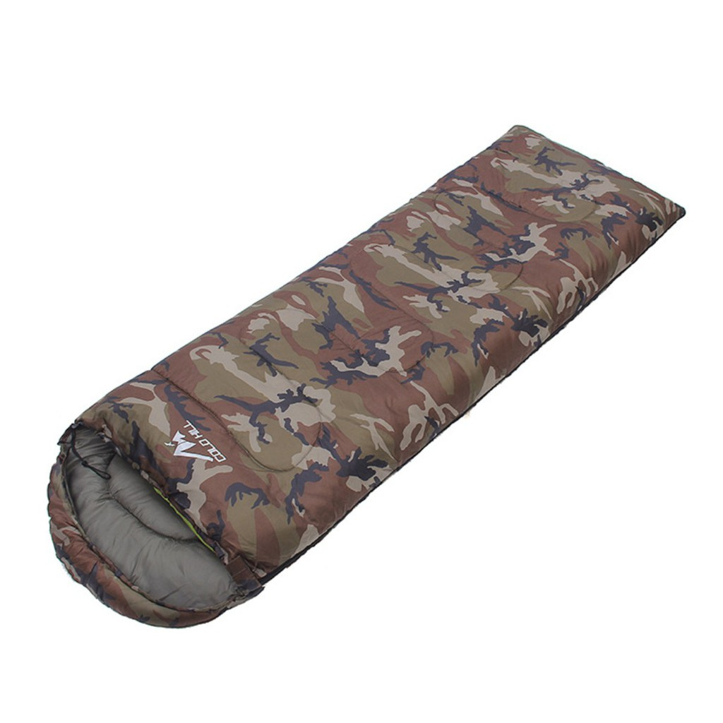 Khaki Green Brown Army Camouflage Cotton sleeping bag for Build a Bear size.