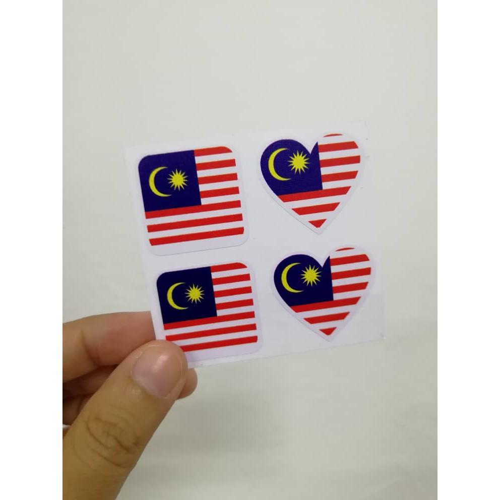 Ready Stock Sticker Pipi Bendera Malaysia Merdeka Shopee Malaysia