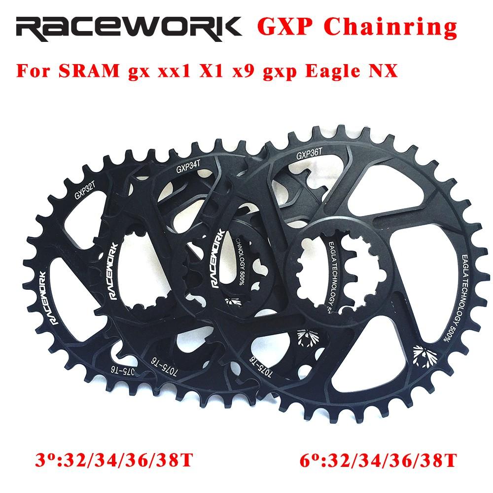 RACEWORK 32 34 36 38t Bicycle Chainring Crankset Plate for GXP XX1 XO CNC AL7075
