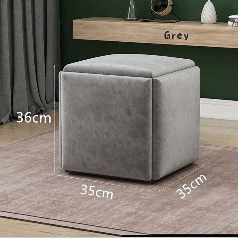 GDeal Simple 5 In 1 Rubik's Cube Chair Sofa Stool Comfortable Soft Space Saver Living Room Modern Mini Cube Stool