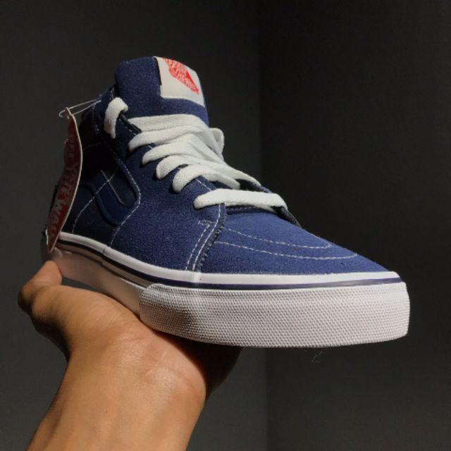 szczegóły sprzedawca hurtowy najlepszy dostawca Ready stock!! Kasut VANS SK8 Hi Skate Blue Jeans