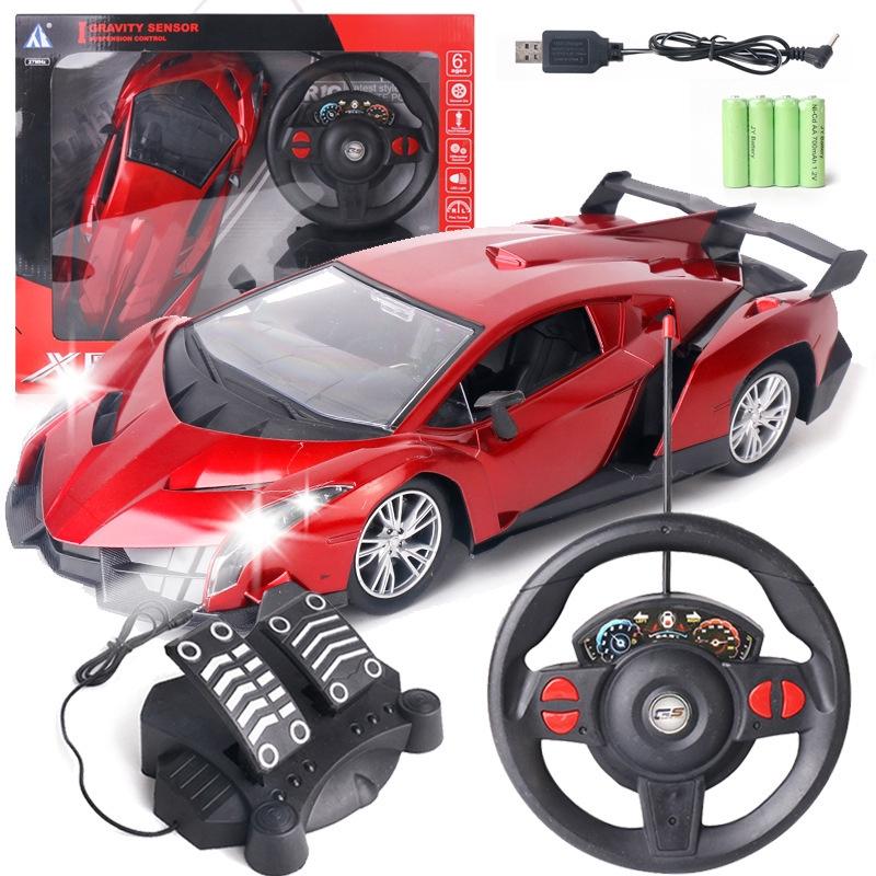 [Ready Stock]2020 Latest 1:12 Steering Wheel with Pedal Kids Remote Control Car/Lamborghini