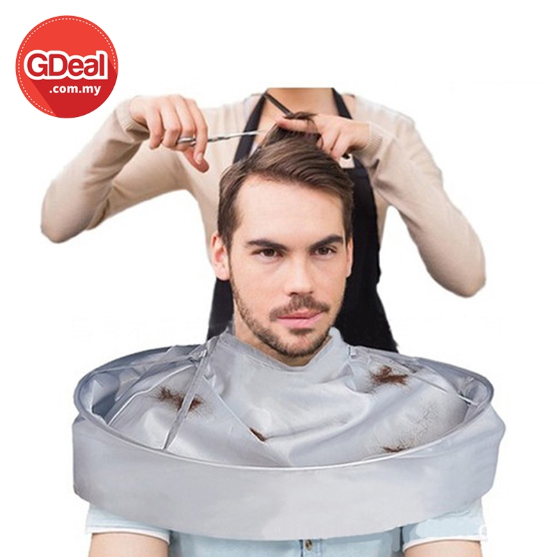 GDeal Salon Barber Breathable 3D Haircut Cape Clean Cloth Hair Styling Tool Pelindung Gunting Rambut ڤليندوڠ ڬونتيڠ رمب