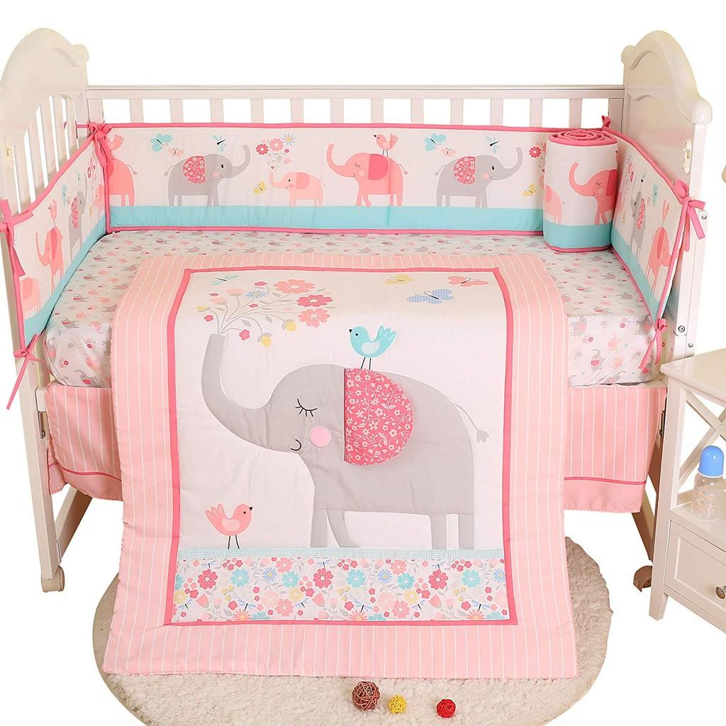 7pcs Set S Baby Crib Bedding Sets
