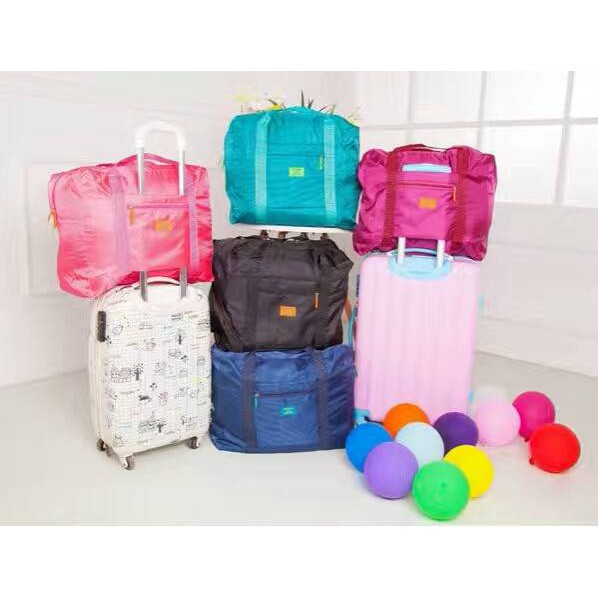 Large Foldable Bag Attachable with Luggage (Traveler´s Expandable Foldable Bag)