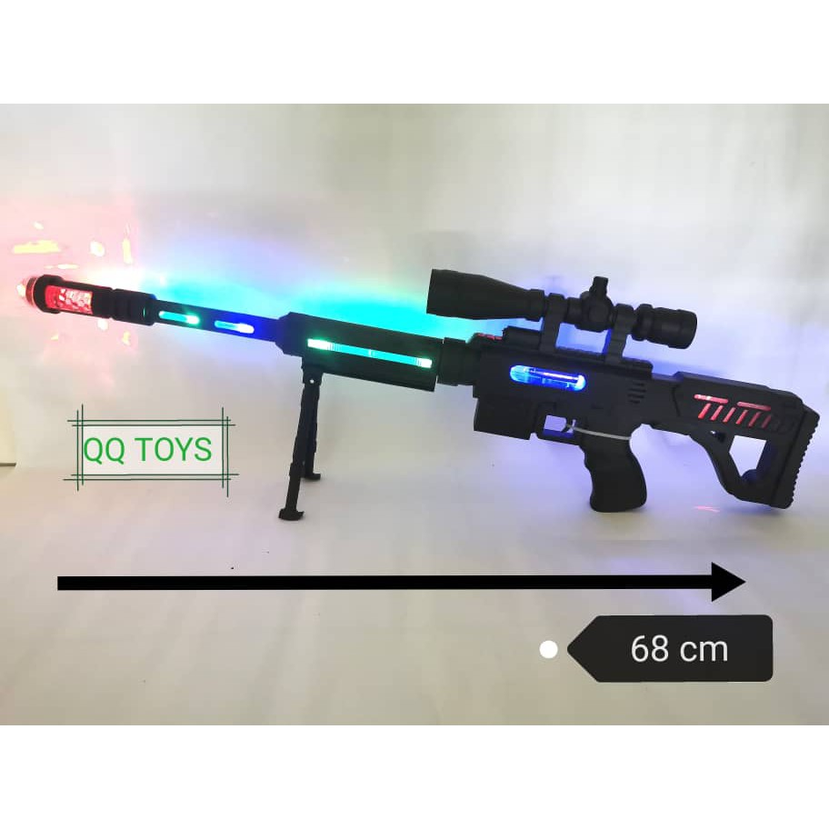 Machine Gun Toys Infrared Pronunciation Toys Gun Free Battery Shopee Malaysia