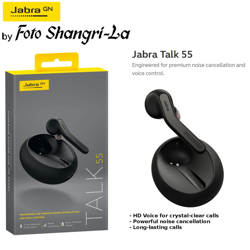Jabra Talk 55 Mono Bluetooth Headset Powerful Dual Mic Noise Cancellation With Hd Voice Calls Portable Charging Case Shopee Malaysia