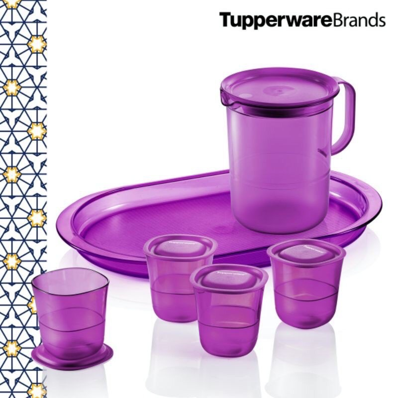 💥Ready Stock!💥Tupperware Purple Royale Crystalline Set