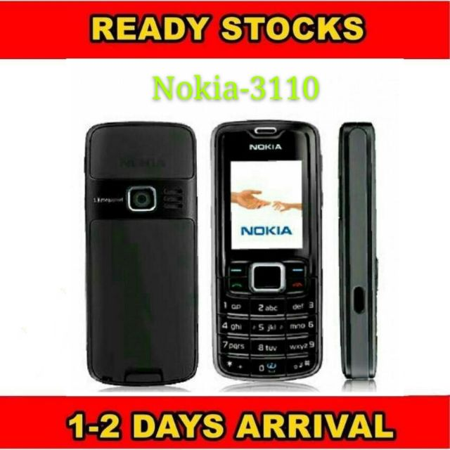 Nokia 3110 Single card with charger battery {original refurbished}
