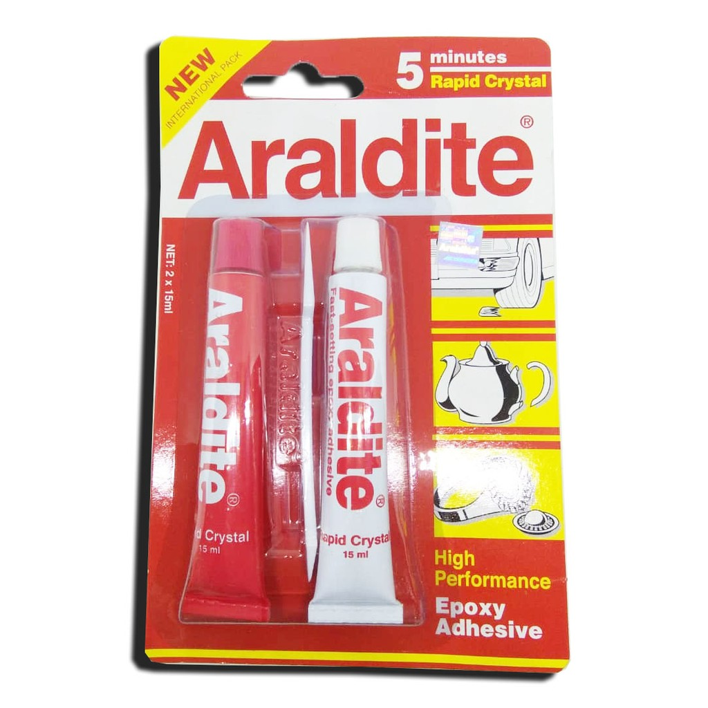 Araldite Rapid 5 Minutes Gam Tan Red