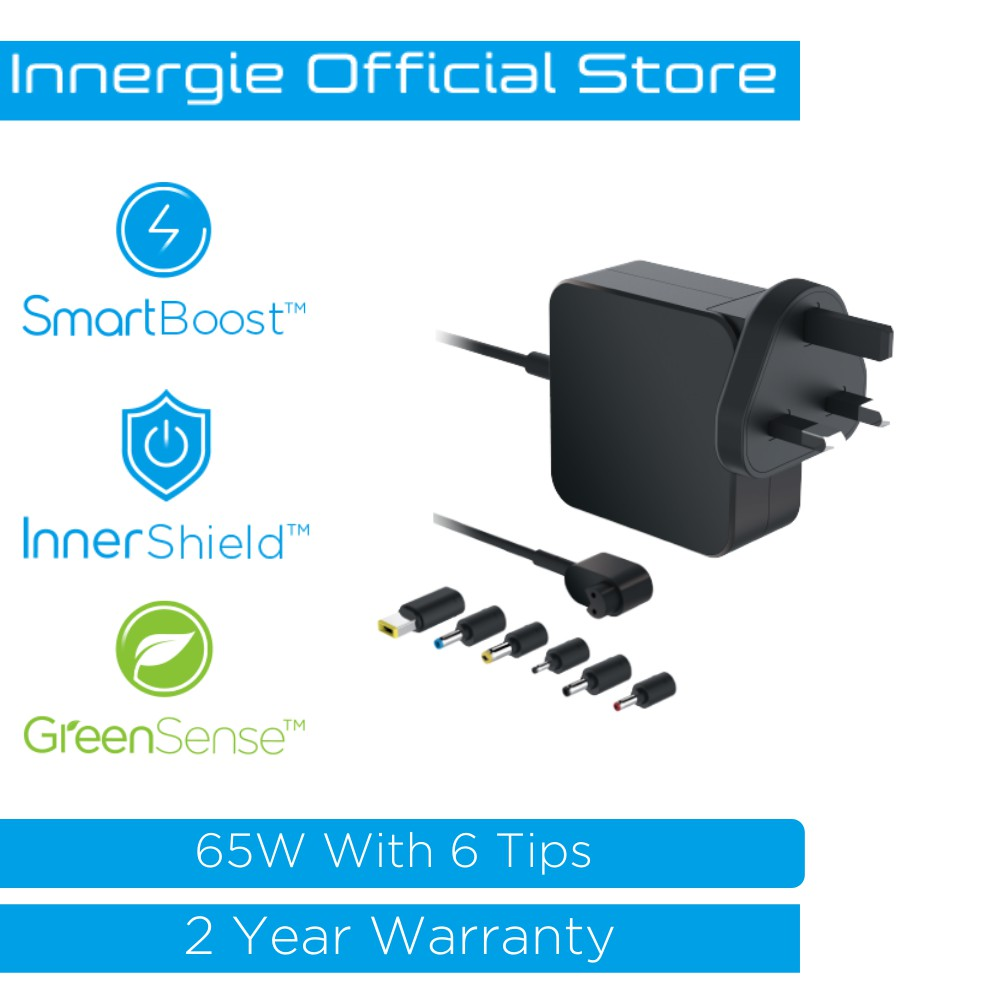 Innergie Universal Laptop Adapter with Build in Cable Adaptor/Charger (65W)