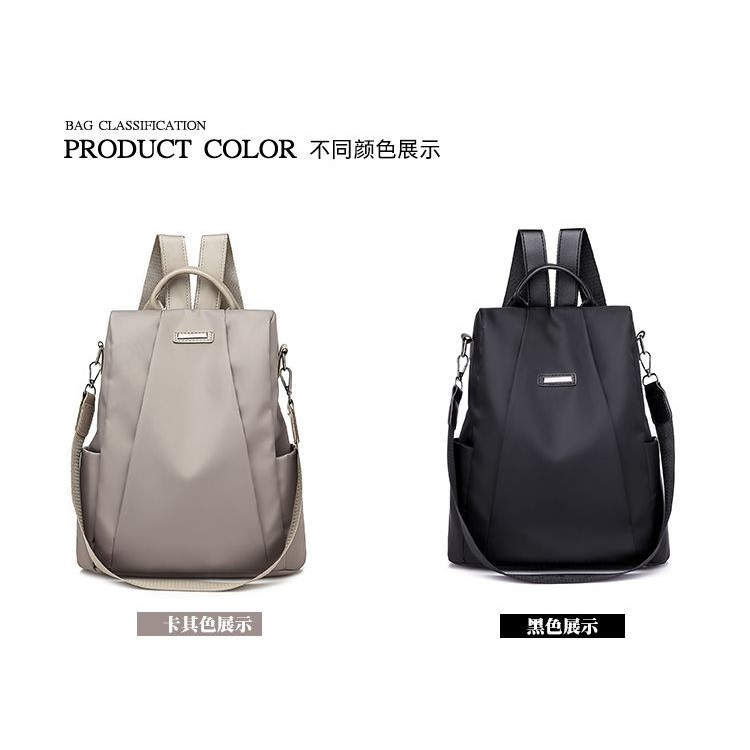 EVON PREMIUM BP009 THE QUEENIE 3200 BACKPACK CARRY BAG MODERN FASHION SIMPLE ELEGANT WATERPROOF PU OXFORD SHOULDER BAG