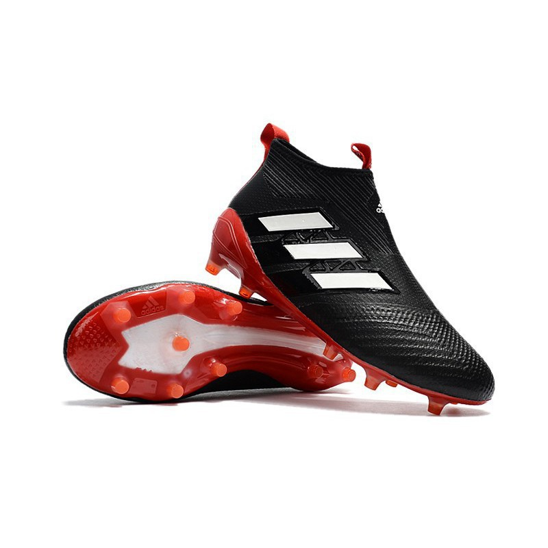 new style 98a94 a1f08 Original Adidas Ace 17+ Purecontrol FG Core Black Upper With Red Bottom  Soccer S