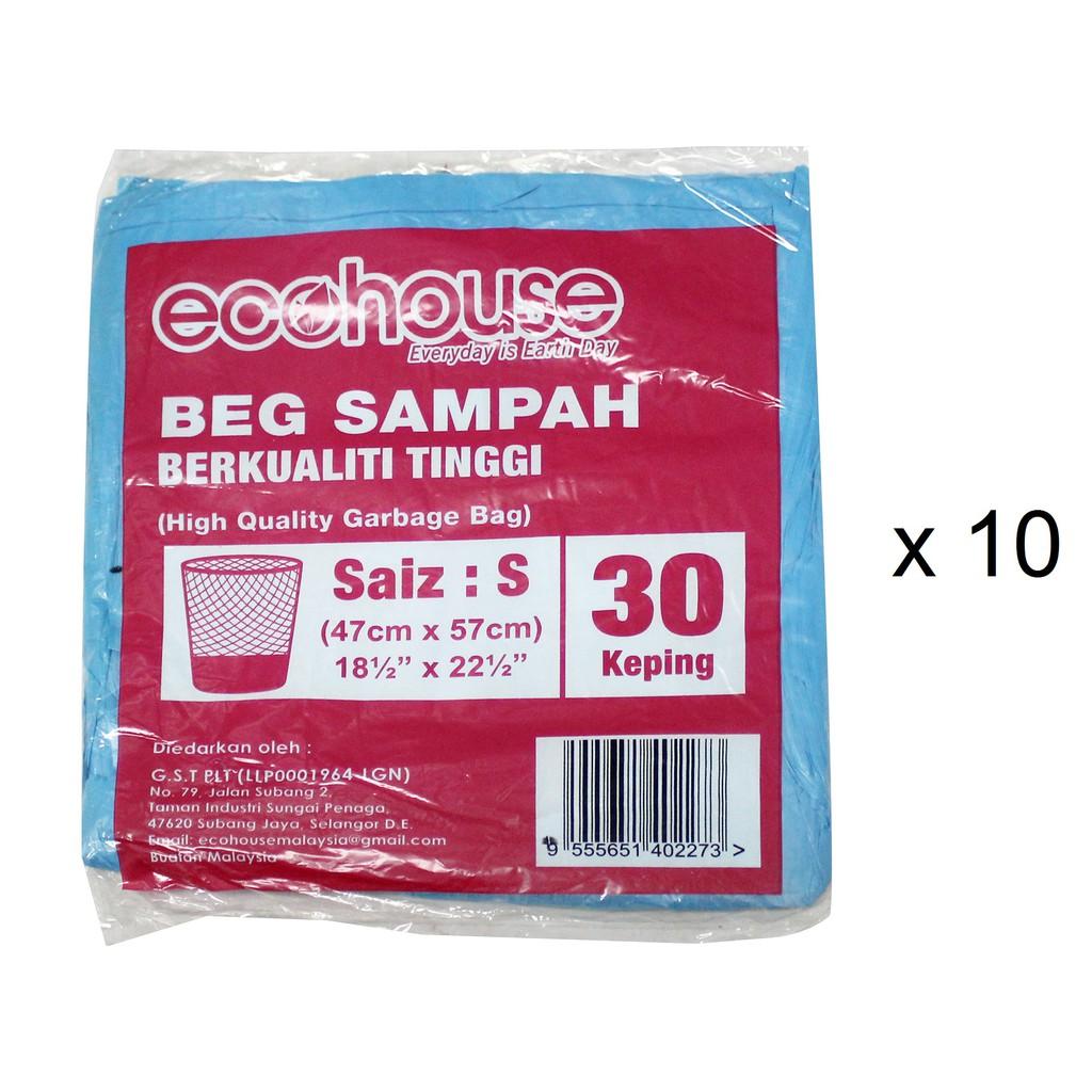 EcoHouse Garbage Bags - S (30 Pcs x 10)