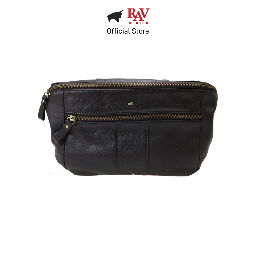 RAV DESIGN Men's Genuine Leather Waist Bag |RVY480 Series
