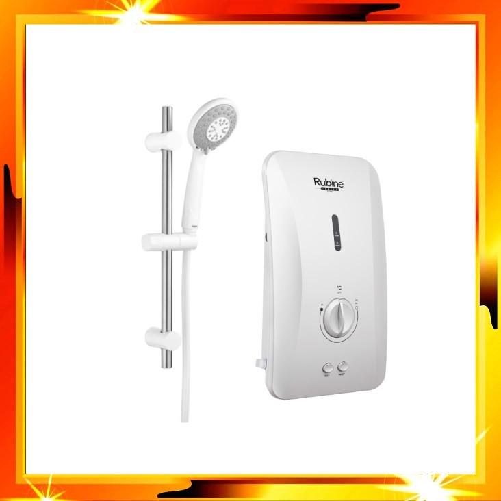 RUBINE RWH-FS391D-WMW (WHITE) / RWH-FS391D-BCB (BLACK) Silent Inverter DC PUMP Instant Water Heater