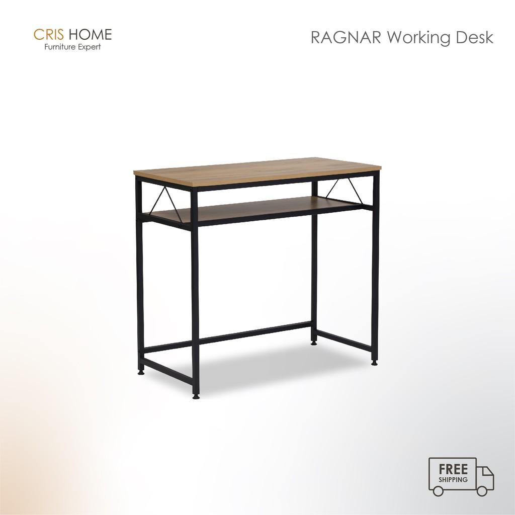 CrisHome - Ragnar Working Desk / Study Tabel / Two Layer Table