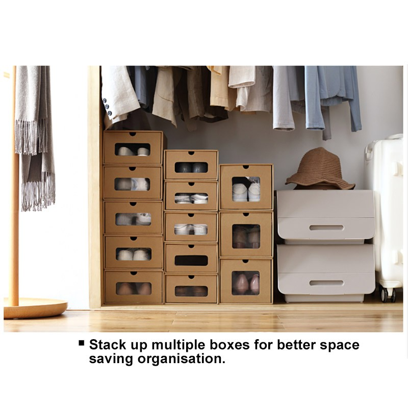Cardboard Box Shoes Organiser with Drawer