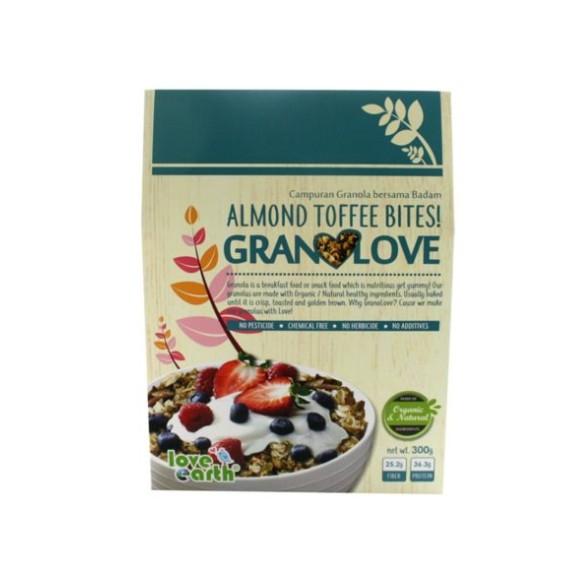 Almond Toffee Bite Granolove 300g ORGANIC HALAL