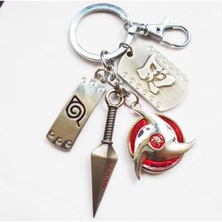 Naruto Shippuden Uchiha Kakashi Naruto Sakura Itach Keychain Keyring Pendant