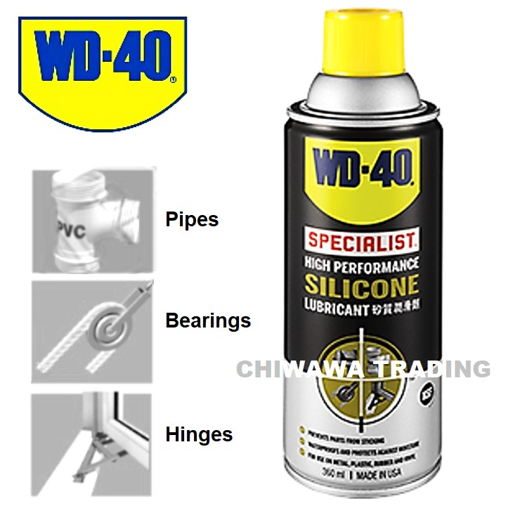 WD-40 Specialist High Performance Silicone Waterproofs Lubricant Spray 360ml