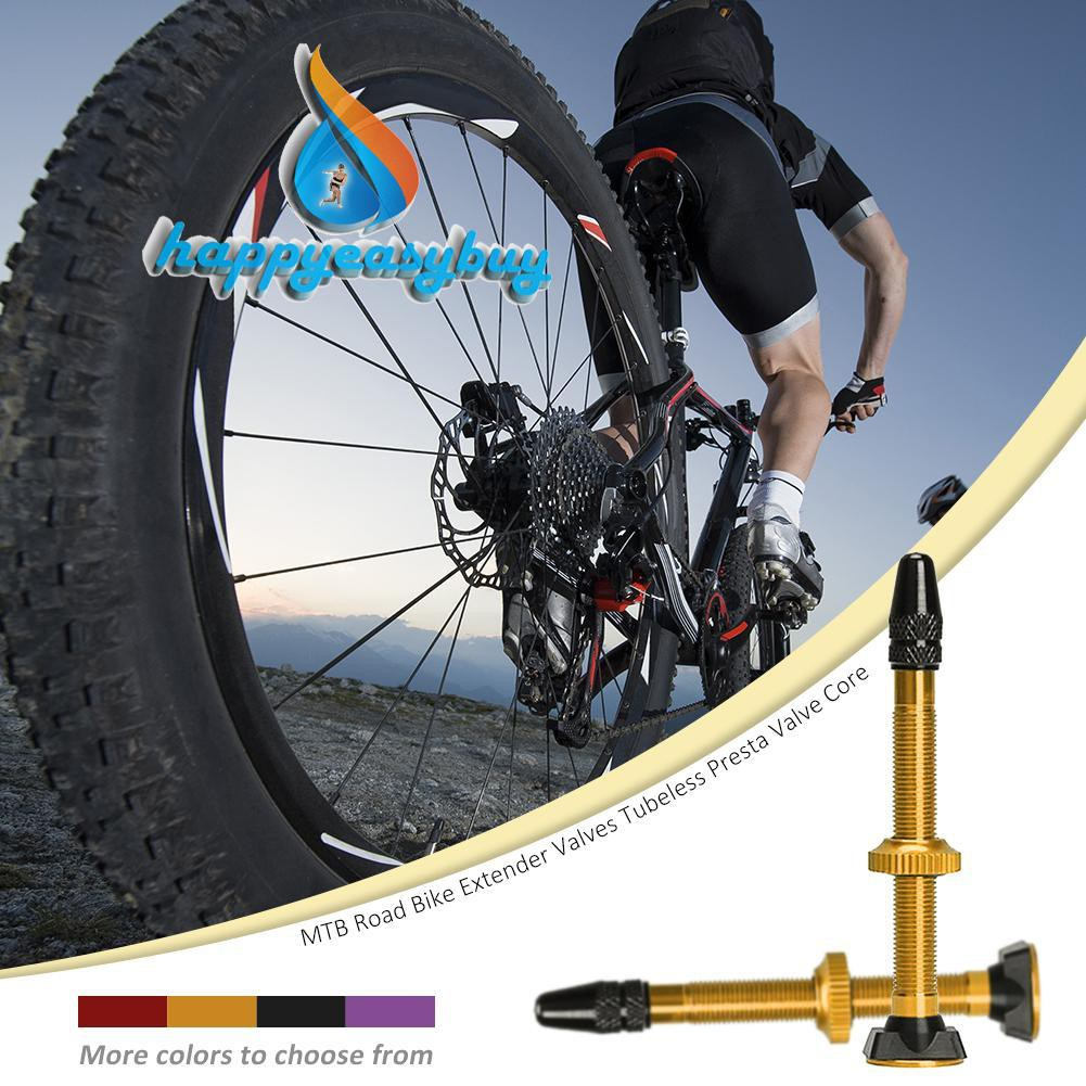 Bicycle Tubeless Presta Valve Stems Tyre Accessories Extender MTB Road Bike 40MM