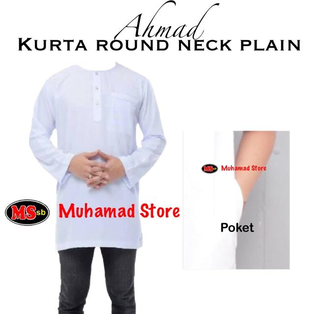 Kurta Ahmad Round Neck Plain