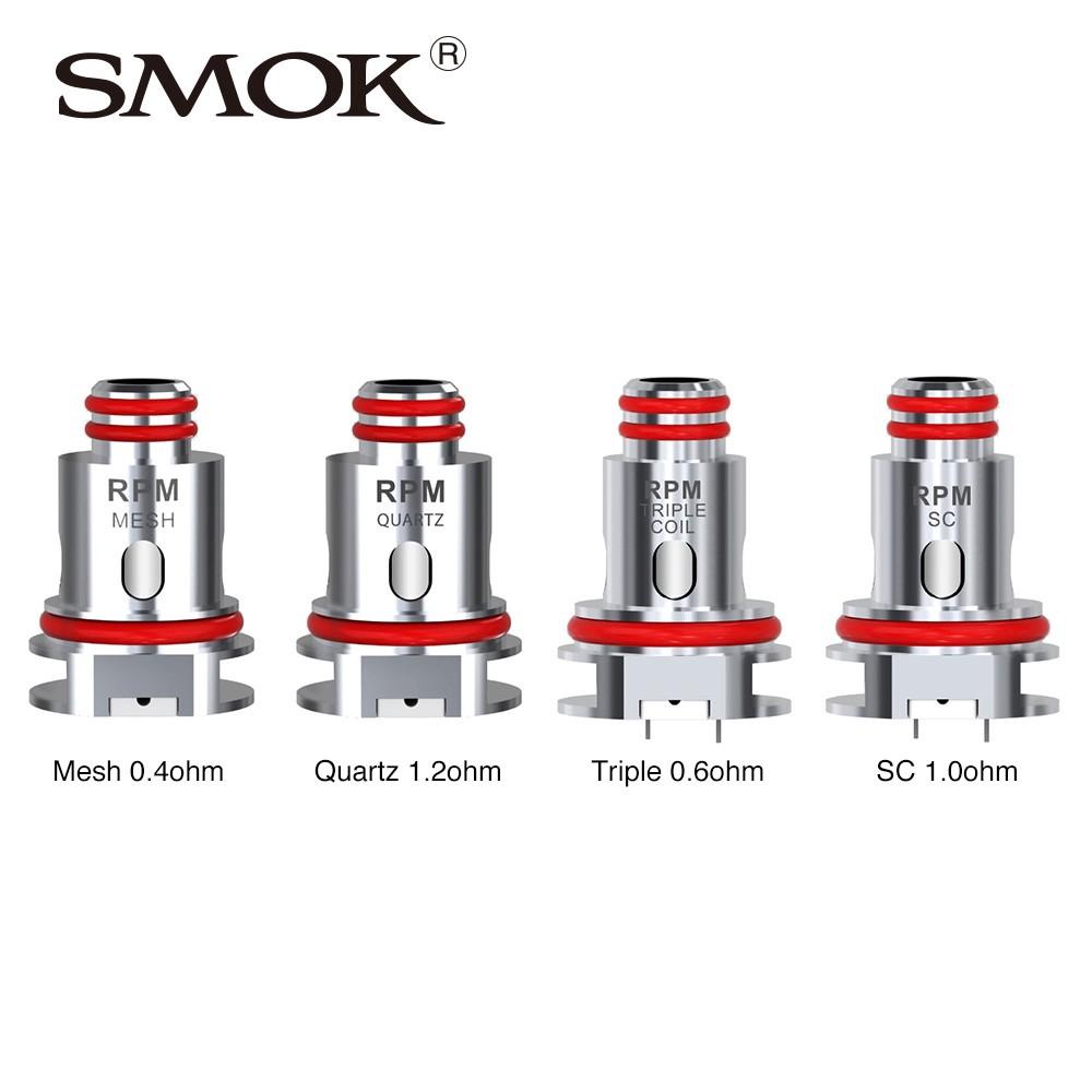 Original Smok Rpm 40 Rpm 80 Fetch 5pcs Occ Rba 0 4 Mesh