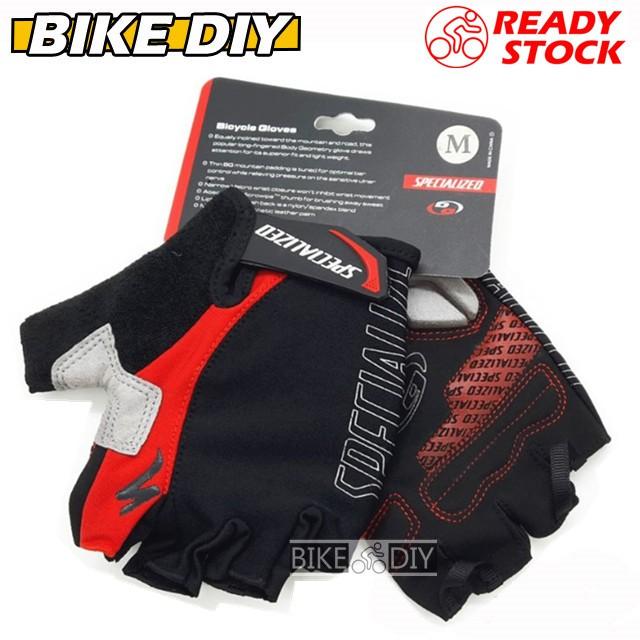 BGGEL Ms. Mountain Bike Cycling Gel Short Finger Gloves Korean   Shopee Malaysia