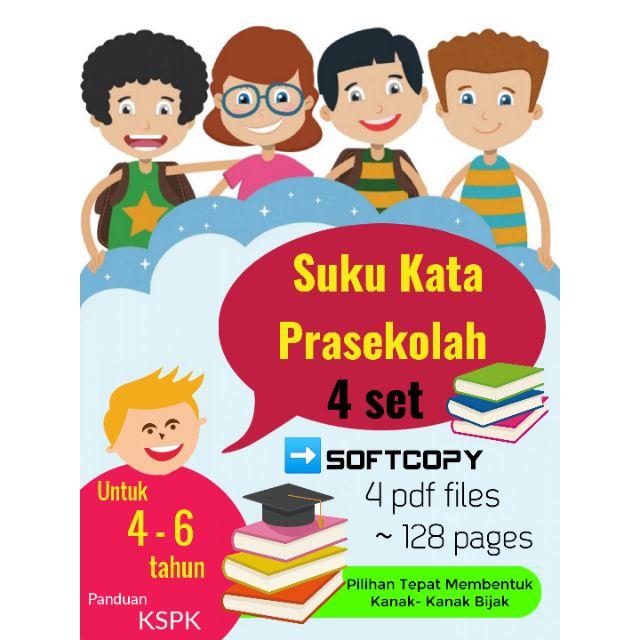 Printable Softcopy Email Only Bahasa Suku Kata Prasekolah Kindergarten Aktiviti Latihan Worksheet Shopee Malaysia