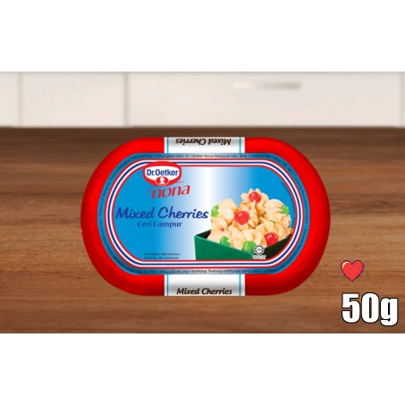 Dr. Oetker Nona Mixed Cherries 50g ( Free Fragile + Bubblewrap Packing )