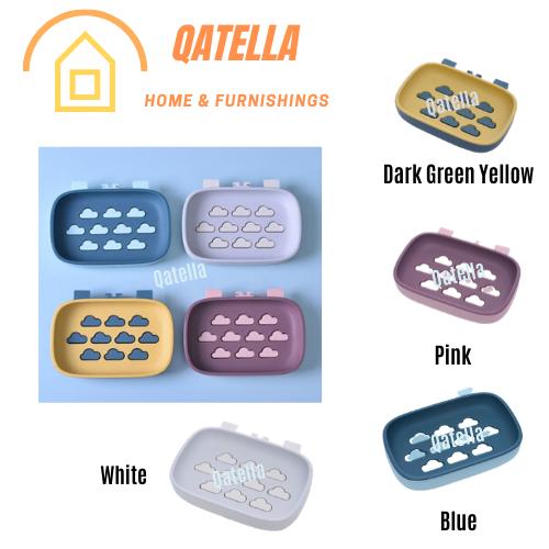 Qatella Modern Simple Installation Seamless Paste Bathroom Soap Box Wall-mounted Soap Holder 肥皂盒 Kotak Sabun