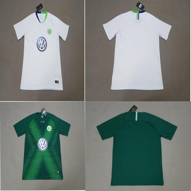 pretty nice c5ed0 ab6e1 2018 2019 Germany VfL Wolfsburg soccer jersey