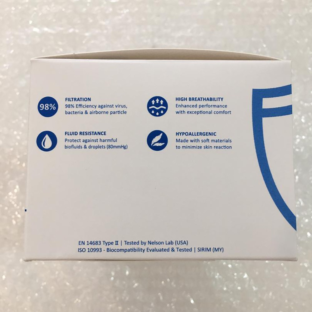 MEDICOS Face mask Surgical 3 ply 50'S with box