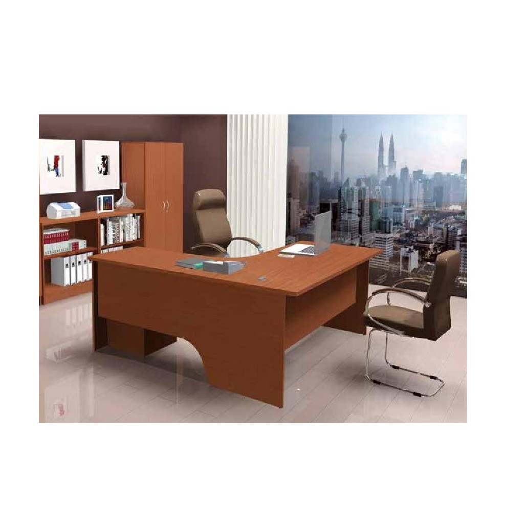 (FREE Delivery Klang Valley) L Shape Table 43x43 FT  Office Table (43 Colors)