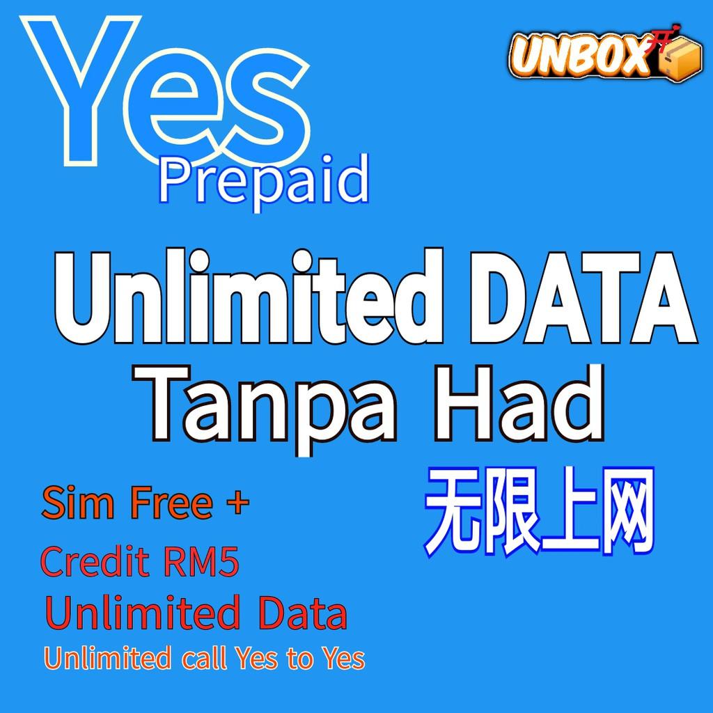 Yes Unlimited internet DATA Sim / 20GB