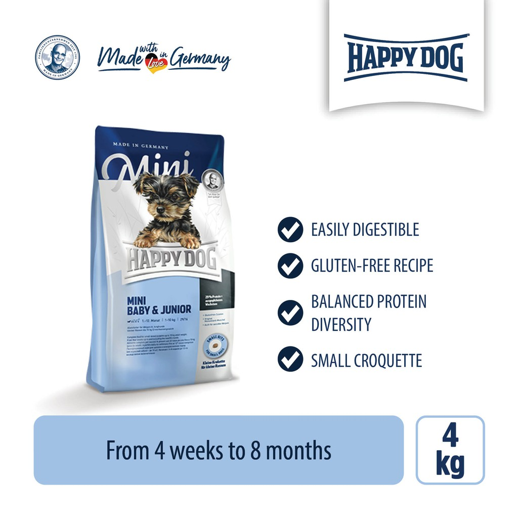 Happy Dog Supreme Young - Mini Baby & Junior (4kg)