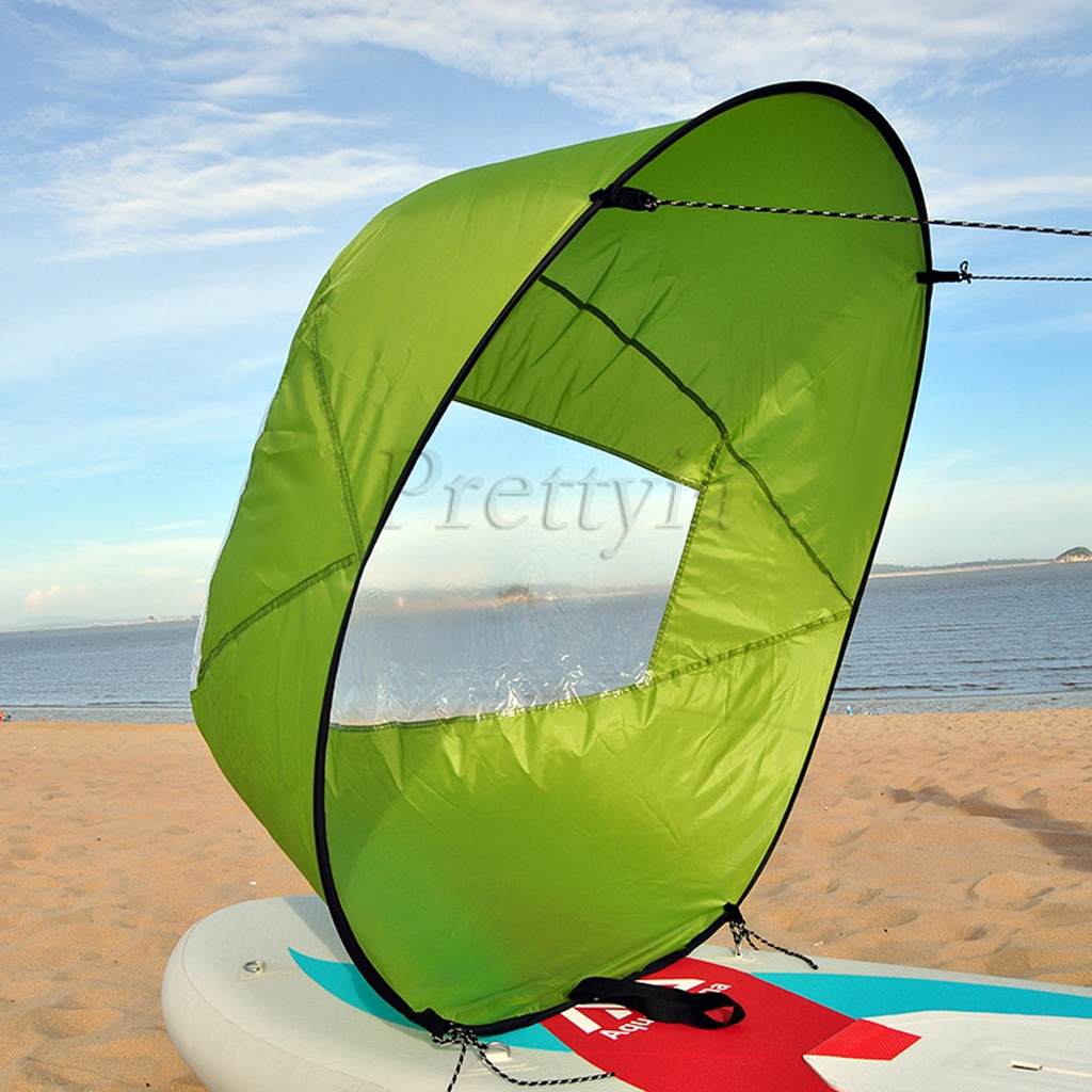 Bootsport Zubehör 42 Inch Downwind Wind Sail Kit Kayak Wind Boat PVC Paddle with Clear Window RM