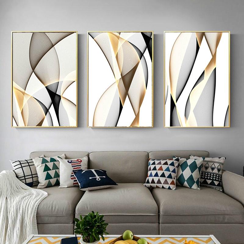 Abstract Canvas Line Wall Art Decor