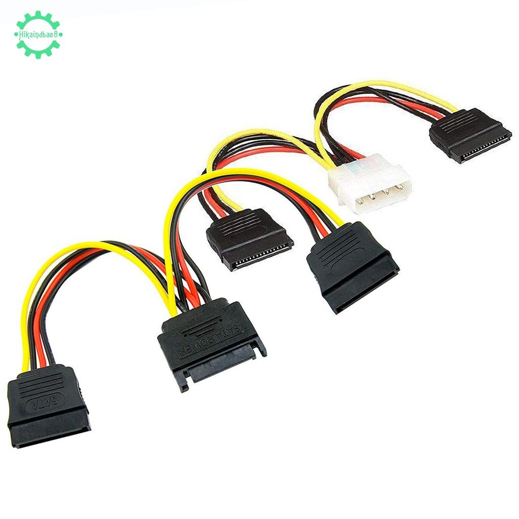 1x 4 Pin to Dual 15 Pin Cable, 1x 15 Pin to Dual 15 Pin SATA Cable