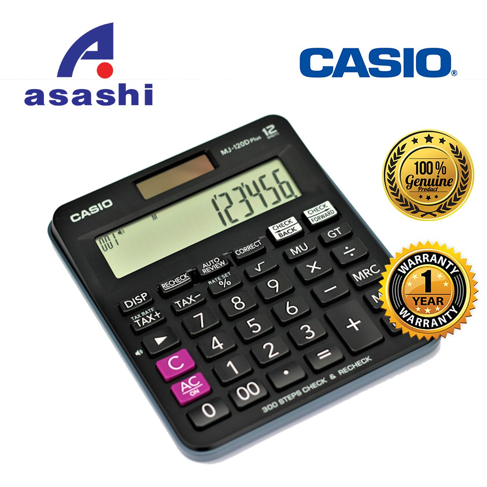 CASIO MJ-100D Plus Check & Recheck Calculator (100% Original - Ready Stock) | Shopee Malaysia