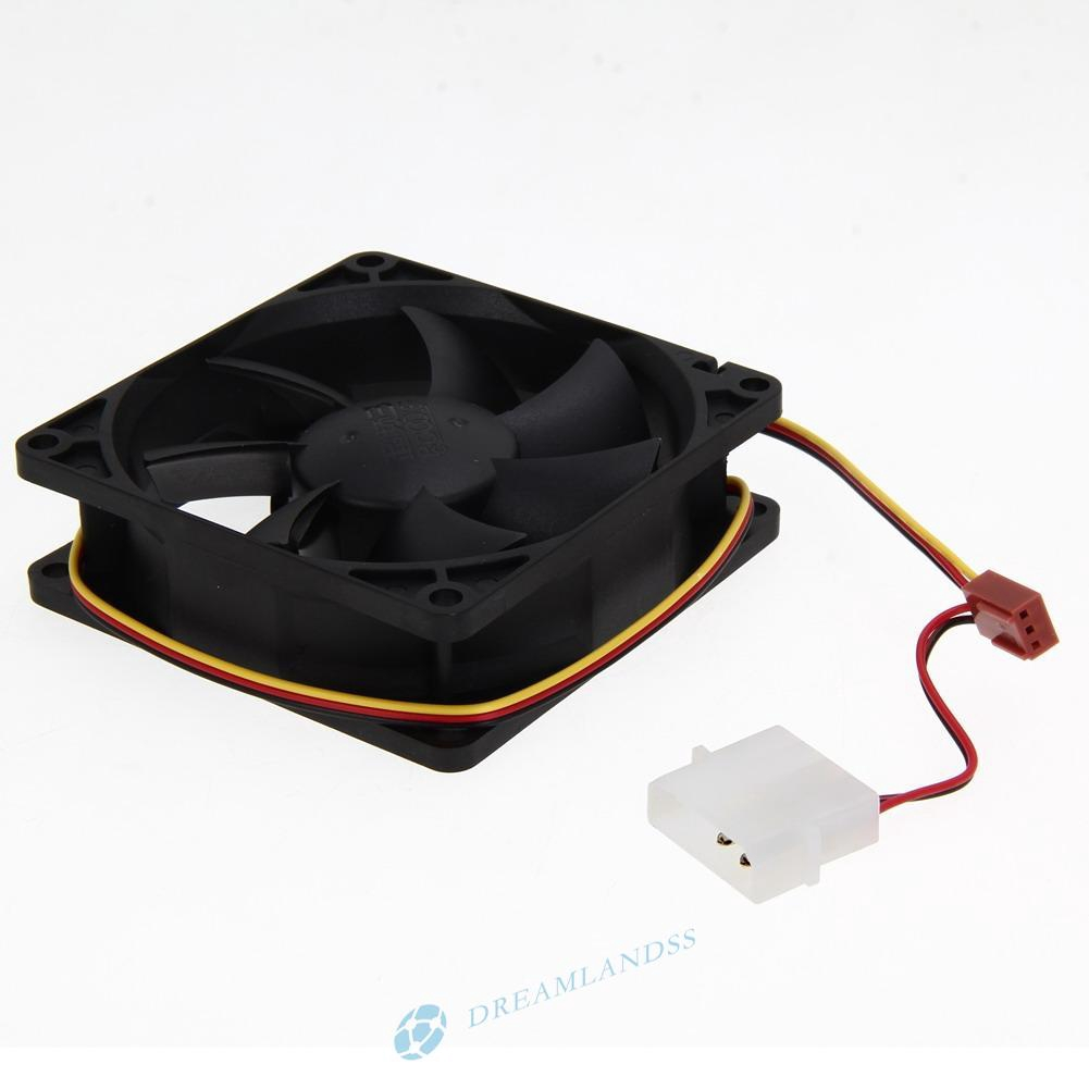4 PIN 120mm 12cm For Computer PC Clear Case Quad 4-LED Light CPU Cooling Fan FT