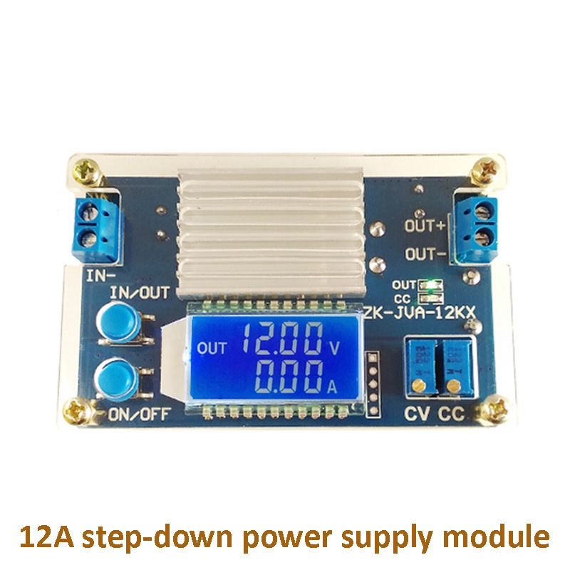 12A Constant Voltage Constant Current LCD Digital Stepdown Power Supply  Module