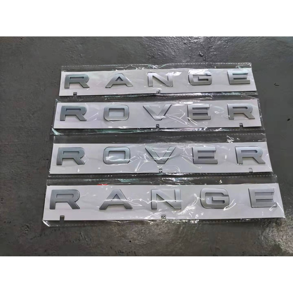 Hood Bonnet Lettering Sticker Decal Front and Rear new Fits Land Rover Range Rover L322 2002-2012