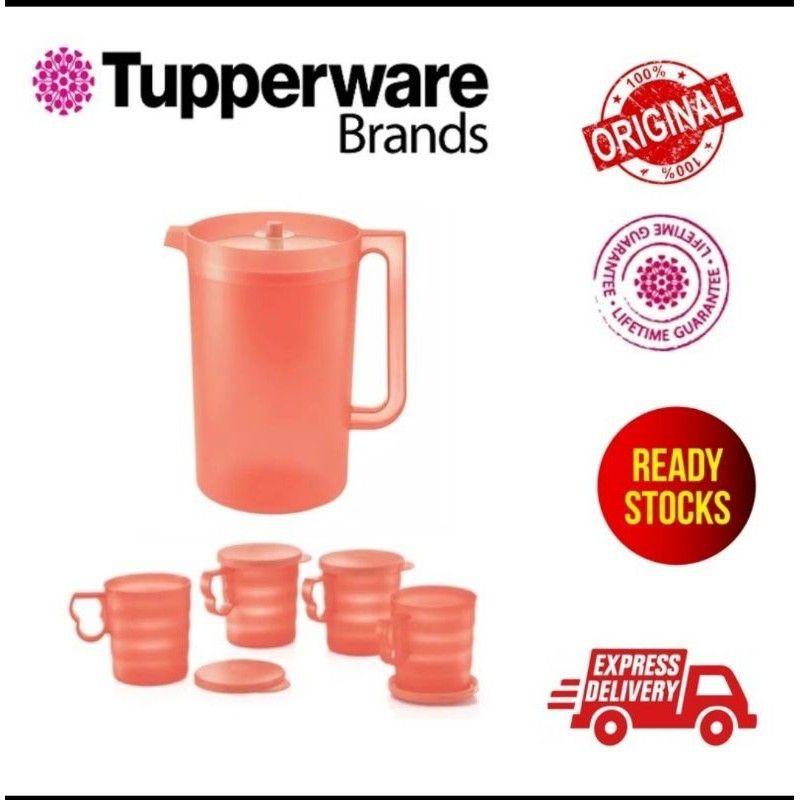 Tupperware Blossom coral pitcher / mug